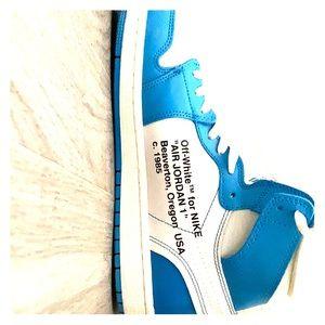 Jordan Off White and Blue 1s